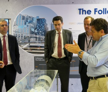 Representatives from the Spanish and Italian embassies visited the Follo Line Project and the new Visitor Room.